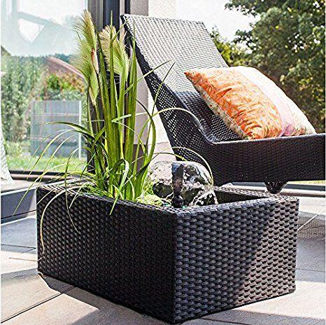 GroB Rattan Wassergarten Set, Terrassenteich Brunnen Von Heissner   Garten Ideen  Gestaltung Garten Deko