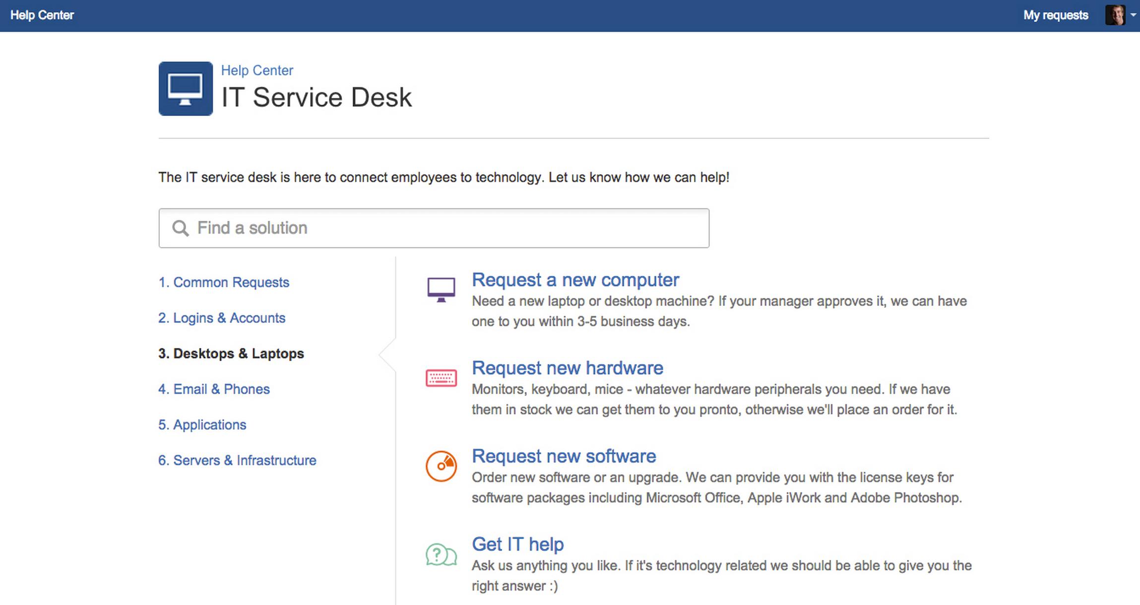 JIRA Service Desk Kundenportal