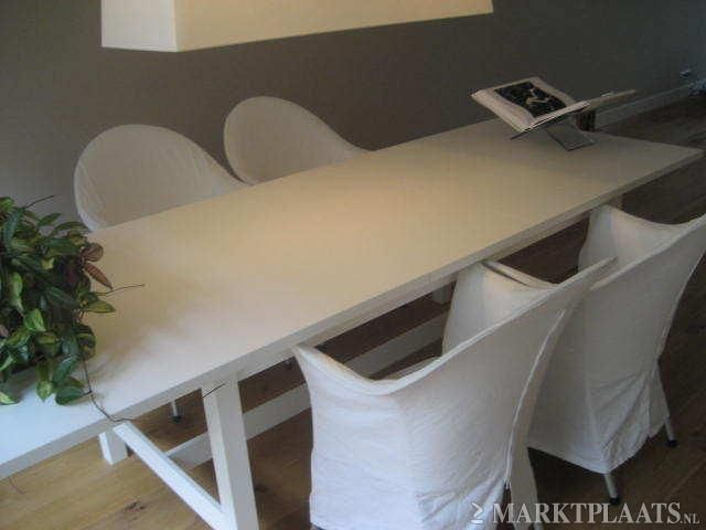 Marktplaats u e top tafel uittrekbare eettafel ikea norden wit
