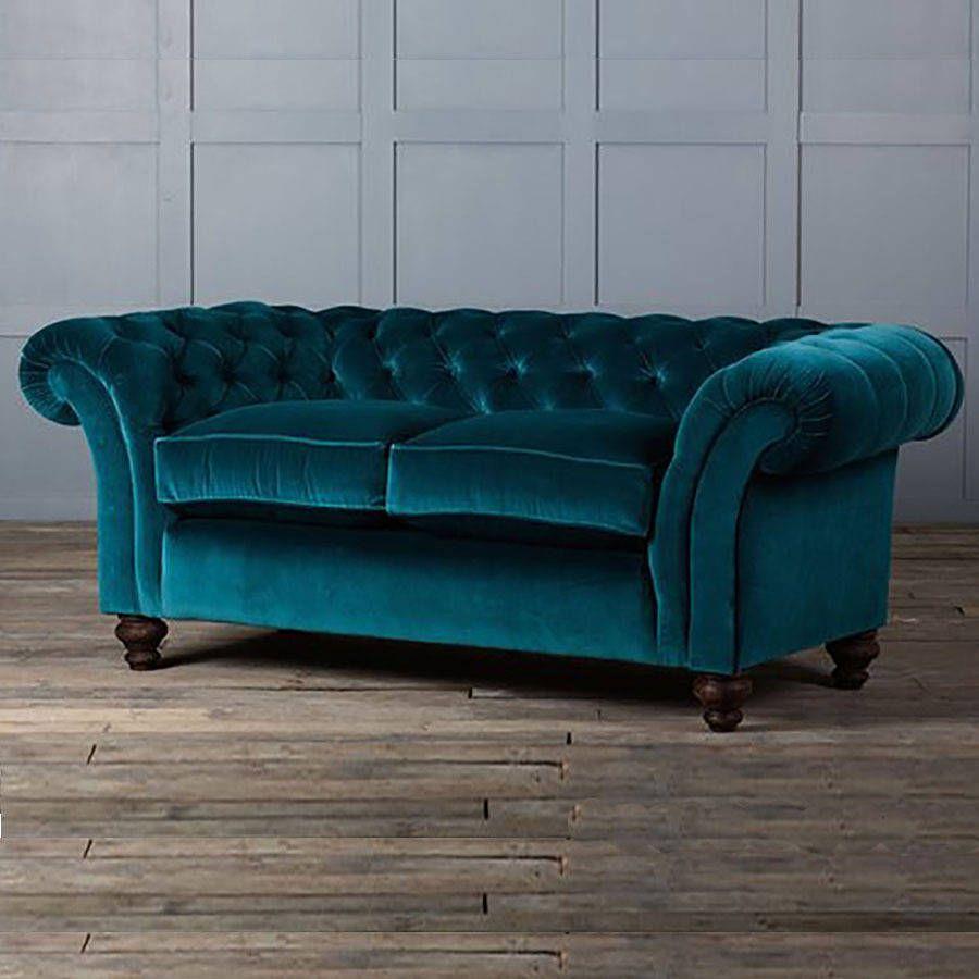 The Monty Velvet Chesterfield Sofa From Notonthehighstreet Com Velvet Chesterfield Sofa Authentic Furniture Sofa Inspiration
