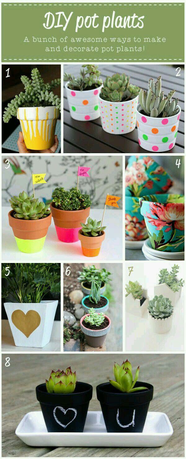 AuBergewohnlich Sammlung An DIY Ideen Für Blumentöpfe