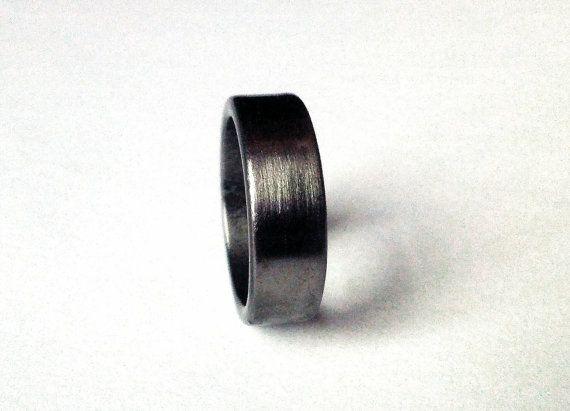 Shotgun Metal Ring Clic Wedding Band Mens And Womens