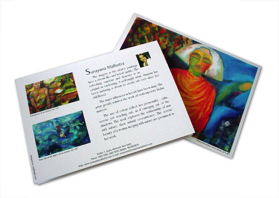 Invitation Card Design For Art Exhibition Art