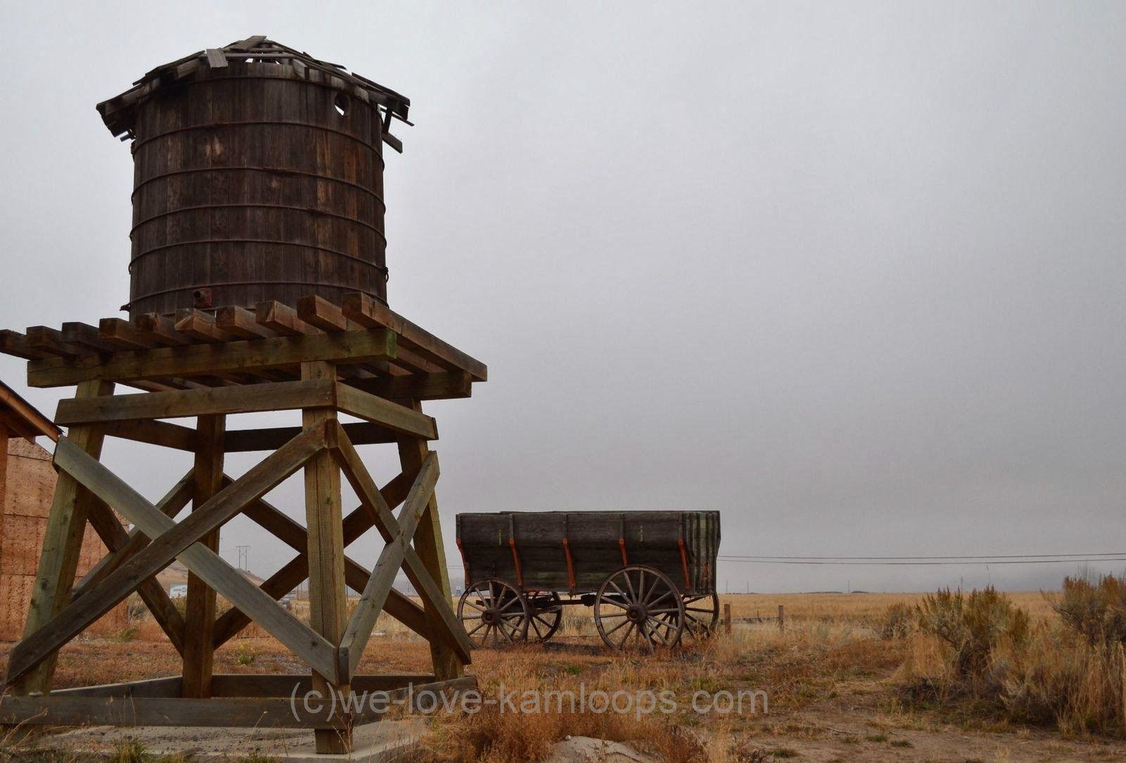 Walhachin Wooden Irrigation Flume Kamloops Bc Water Tower Western Theme Water Storage