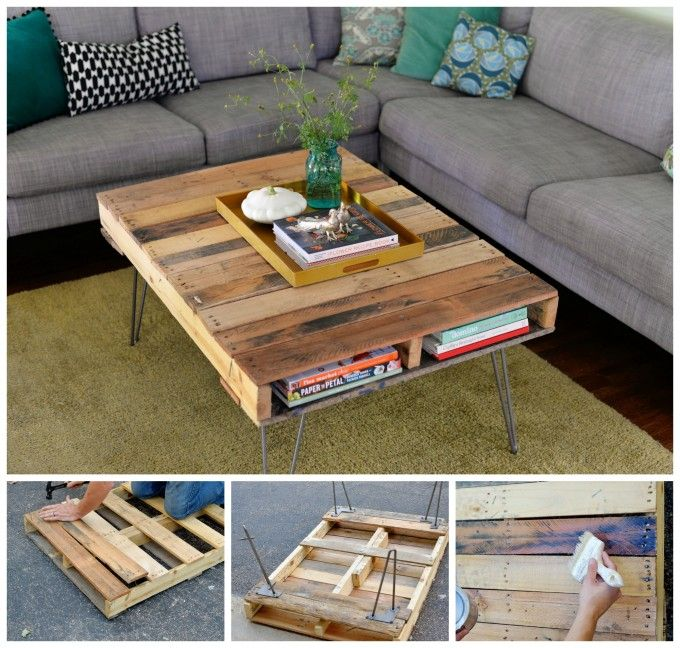 15 Perfect DIY Wood Pallet Crafts Pallet coffee tables Pallets