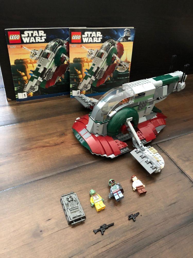 Lego Star Wars Slave I Set 8097 98 Complete W Minifigures