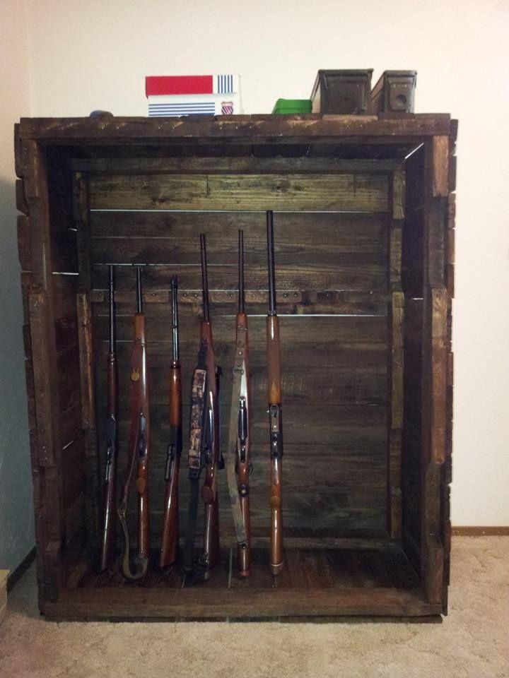 gun cabinet wood pallet interesting furniture pallet wood rh pinterest com