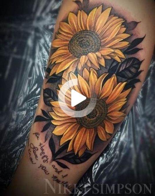 Pin on sleeve sunflower tattoos