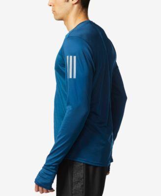 Adidas uomini climalite manica lunga risposta usando top nero