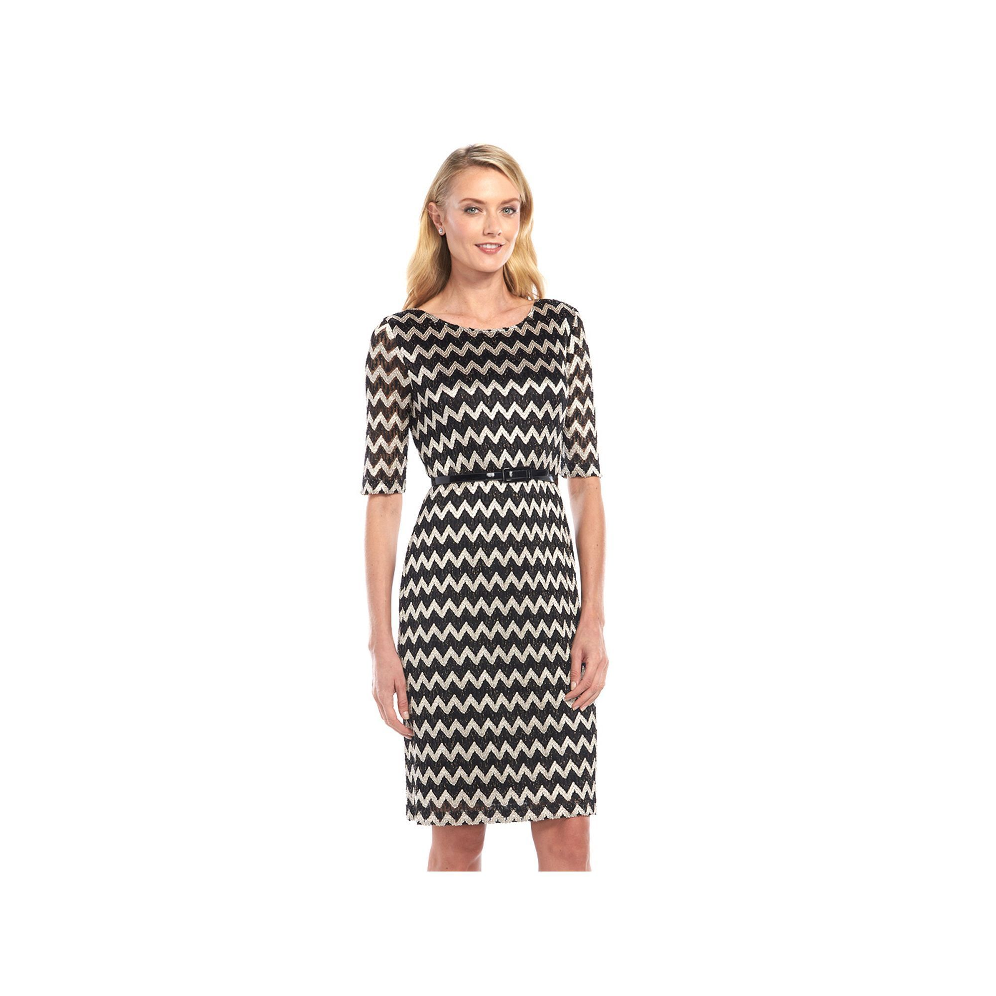 Connected apparel zigzag lace dress womenus lace dress and products