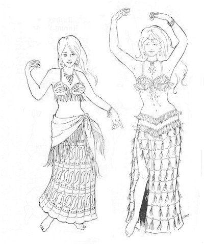 AF16 - Khariya\'s Skirts (Belly Dance) Sewing Pattern by Atira\'s ...