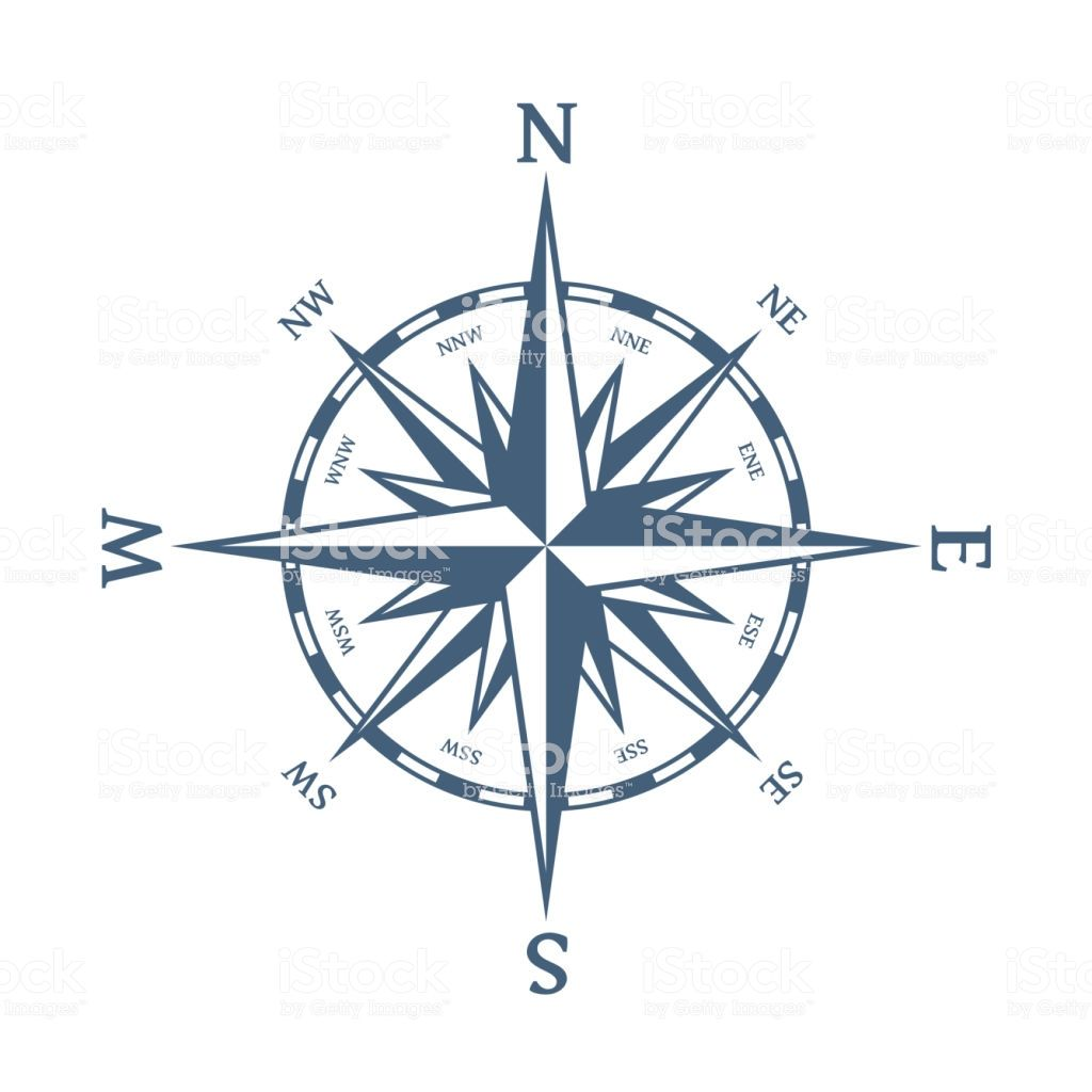 Blue Wind Rose Stock Illustration Download Image Now In 2020 Wind Rose Compass Tattoo Compass Rose Tattoo