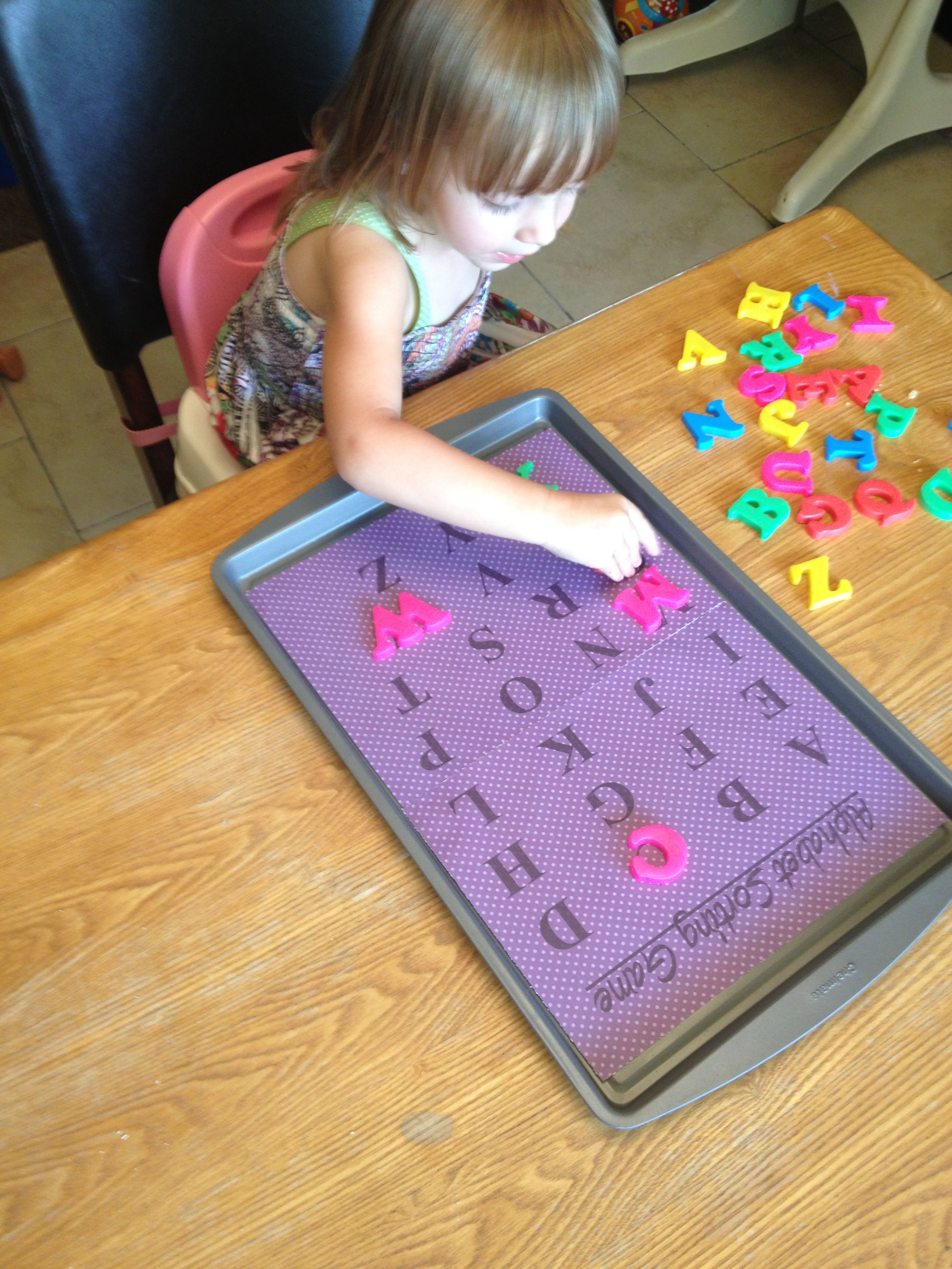 Diy Magnetic Alphabet Sorting Tray