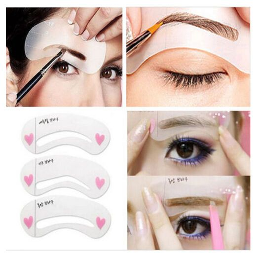 Details About 3 Styles Eyebrow Stencil Shaping Grooming Template