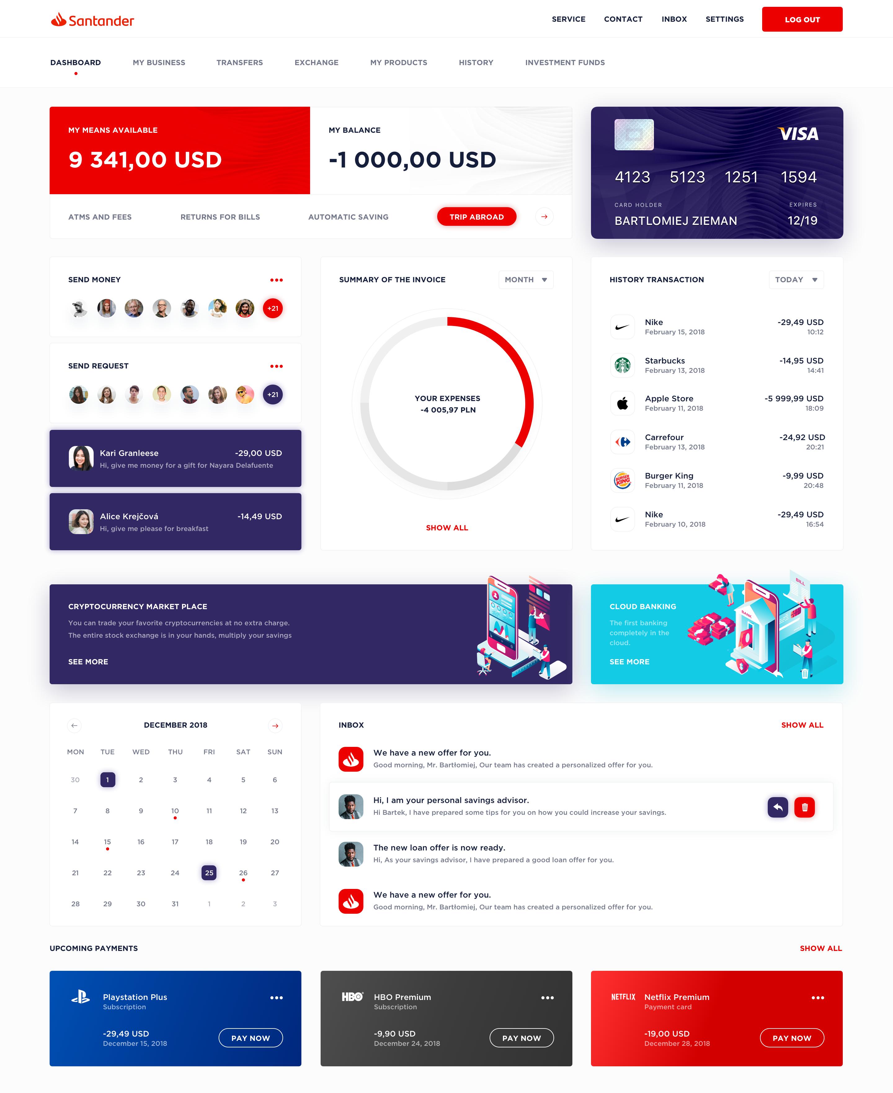 Banking Dashboard Dashboard Design Web Design Data Visualization