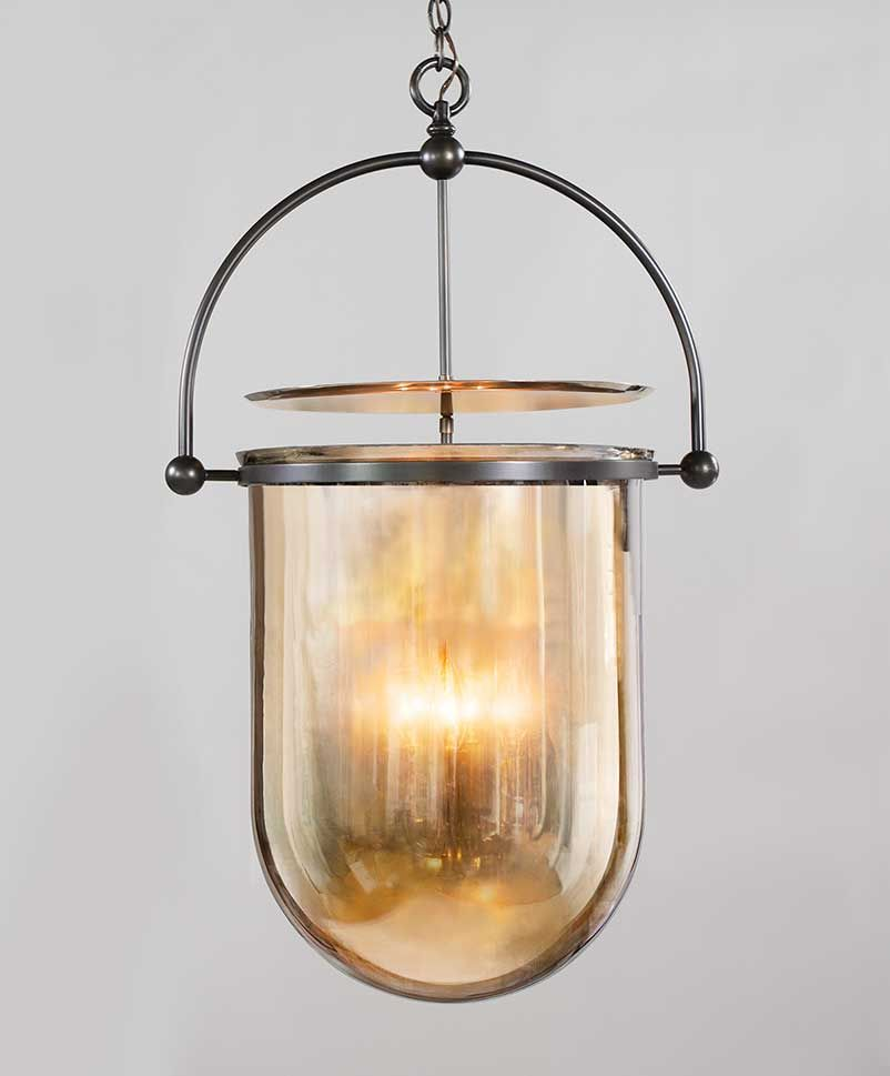 interesting bathroom light fixtures%0A UECo  Urban Smokebell  MA     Master Bath with clear glass to mimic  barrel