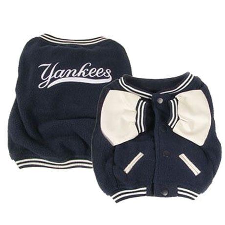 New York Yankees Dog Fleece Coat- Officially Licensed Pet Gear at  Glamourmutt.com 5e05ba28506