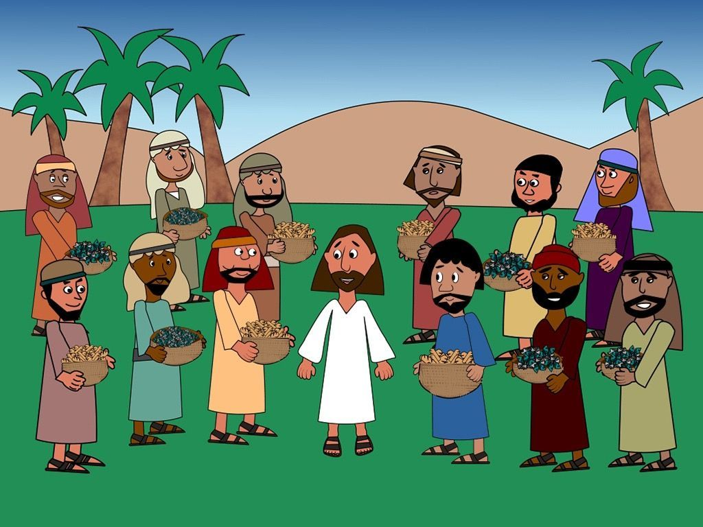 Then Jesus told His disciples to gather together all the bits of ...