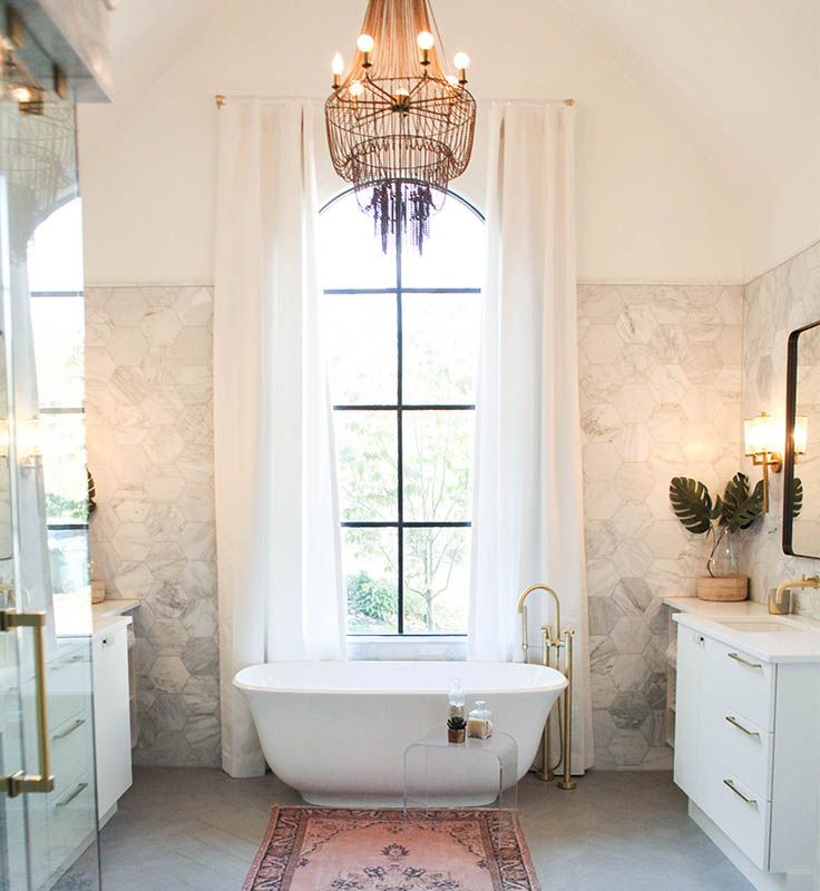 redoing bathroom%0A The statement Victoria   Albert Amiata Bath  Room designed by Olivia  Carswell  Redo Home