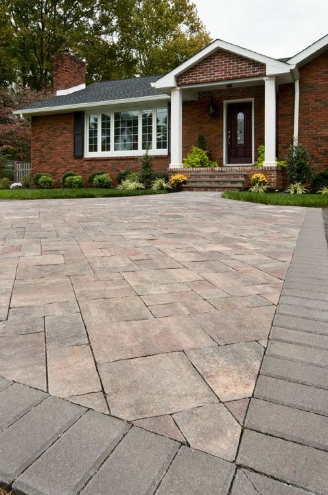 Slate Stone Paver Entry In Brandywine From The CST Ultrabelle Collection.