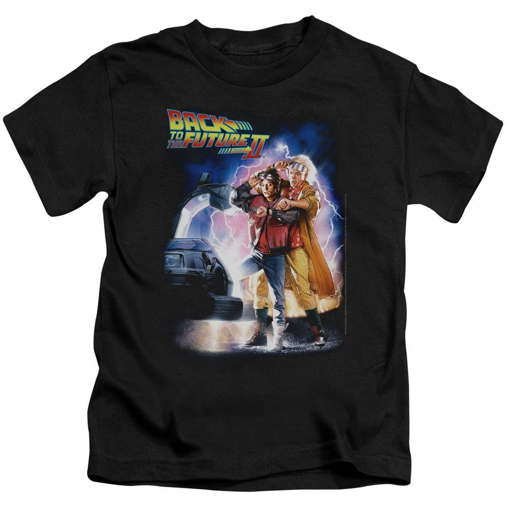 Back to the Future II Poster Black Kids T-Shirt