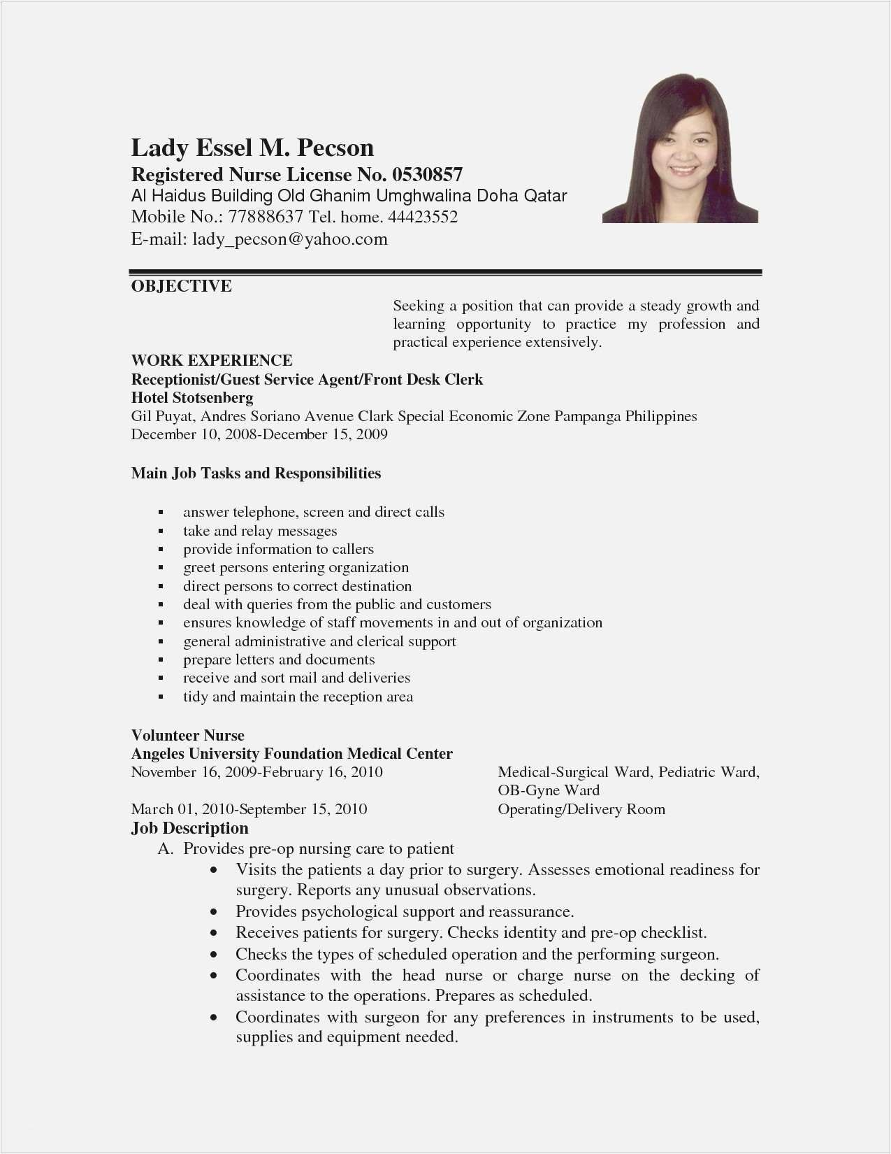 Resume Filling Work From Home