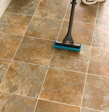 Here S Some Great Cleaning Advice Never Use A Sponge Mop To Clean Ceramic Tile Floors It Pulls The Dirt Right Into Grout Tracks