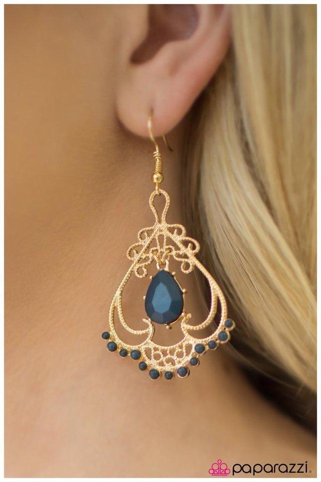 Queen Of Spades Blue Earrings