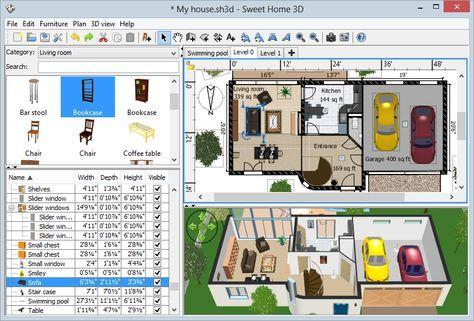 Sweet Home 3d Mit Bildern Trautes Heim 3d Haus Einrichtungsplaner