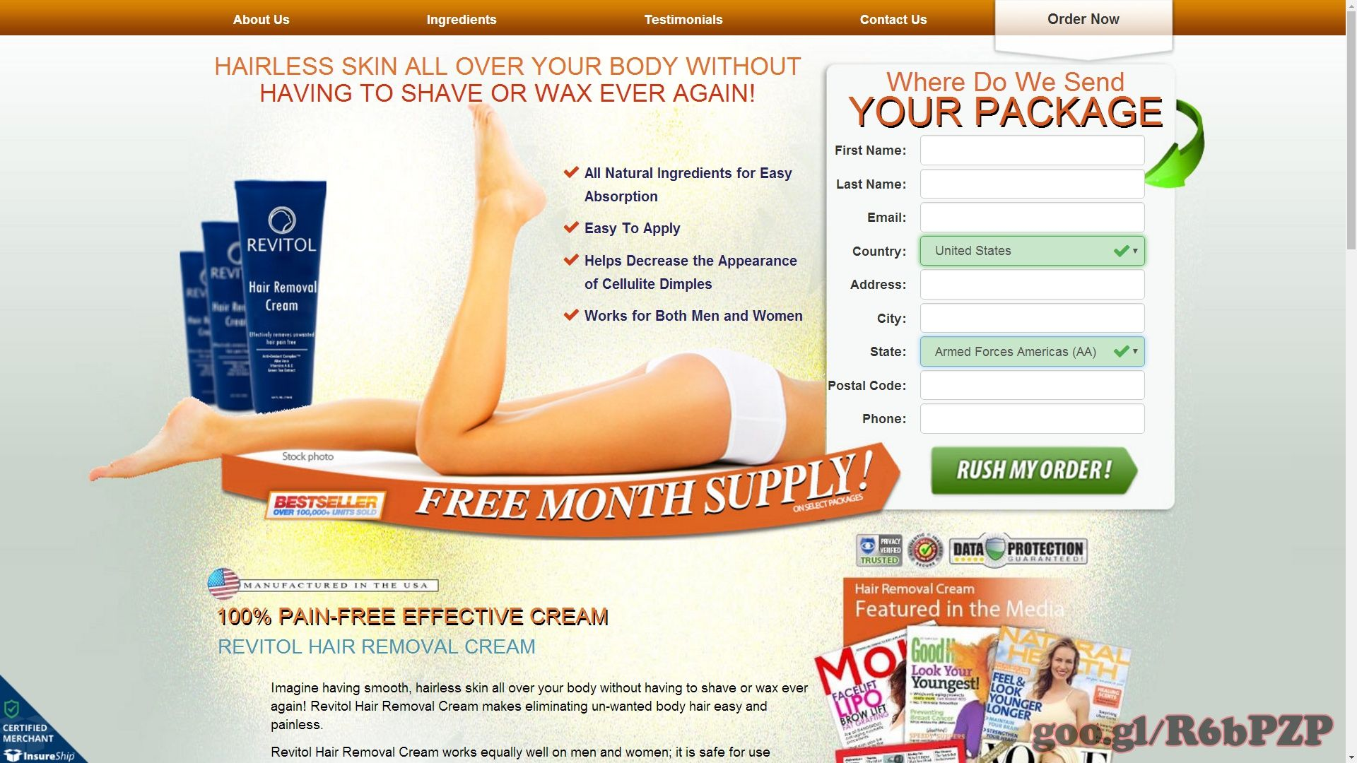 Revitol Hair Removal Cream Skin Care Women S Health And Beauty