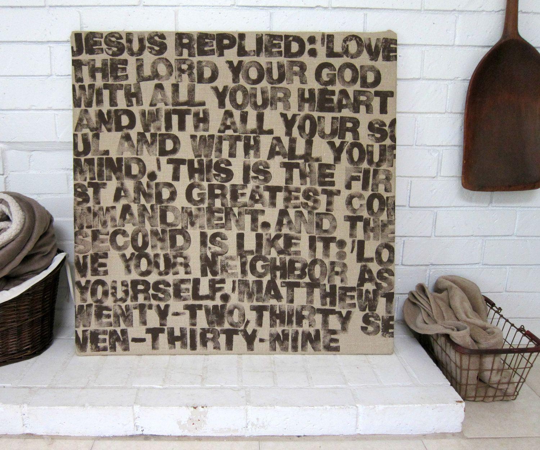 Rustic burlap bible verse wall decor faith in christmy life