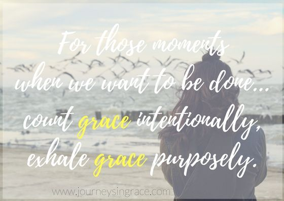 When counting grace keeps us going…