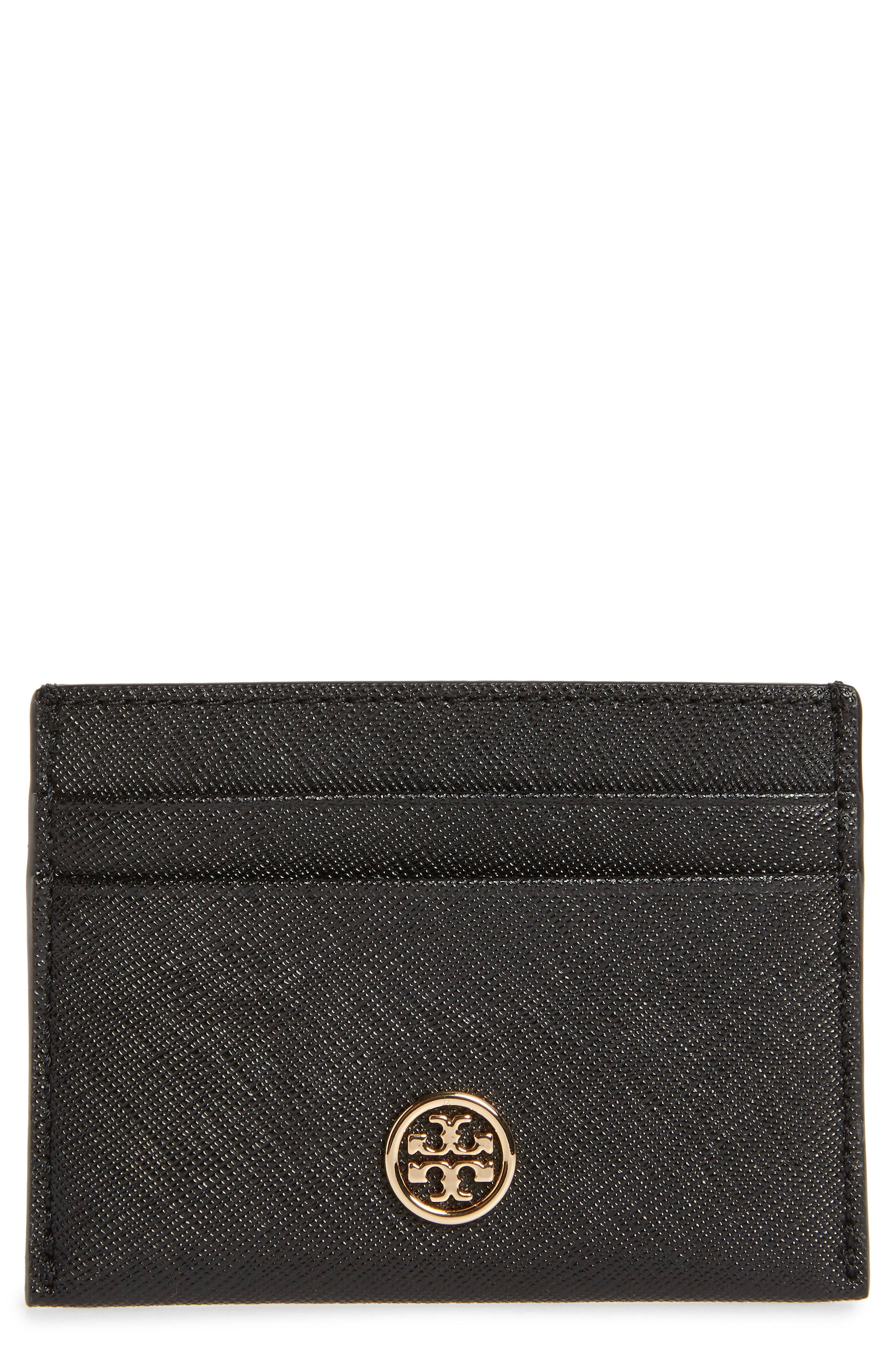 8dc95b361040 Tory Burch Robinson Leather Card Case available at  Nordstrom