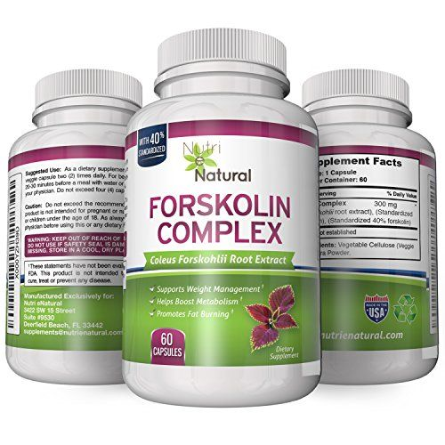 Premium Forskolin Complex for Weight Loss - 100% Natural Coleis Forskohlii Root Extract Standarized to 40%. 60 x 300mg Capsules *** Want additional info? Click on the image.