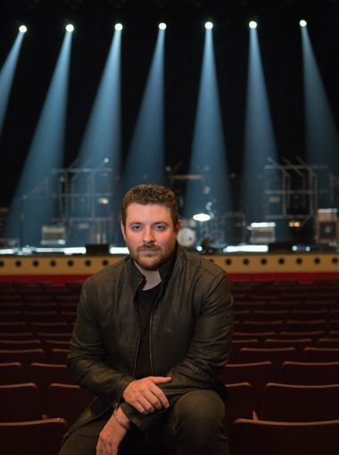Chris Young inside Soldiers and Sailors Memorial Auditorium
