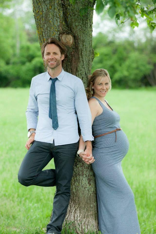Couple Maternity Picture Idea Outside Fall Maternity
