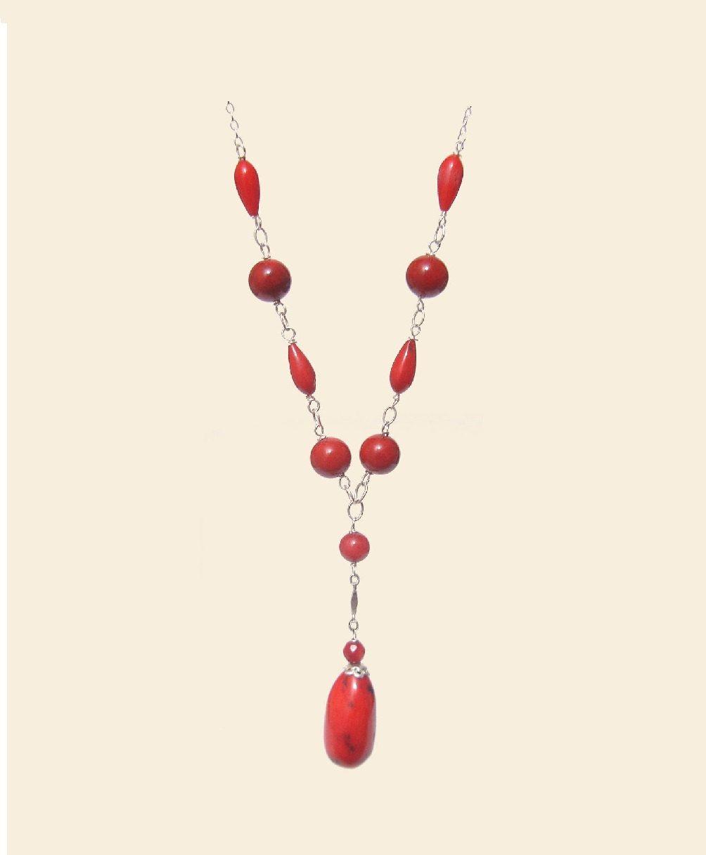 Red irregular coral necklace natural stones 925 sterling silver red irregular coral necklace natural stones 925 sterling silver necklace handmade healing chakra aloadofball Choice Image
