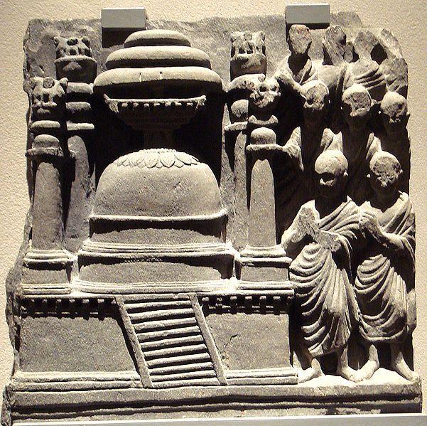 Stupa with Pillars, Gandhara, 2nd century