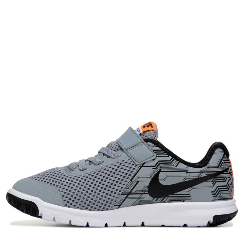 Nike Kids' Flex Experience 5 Running Shoe Preschool Shoes (Grey/Orange)
