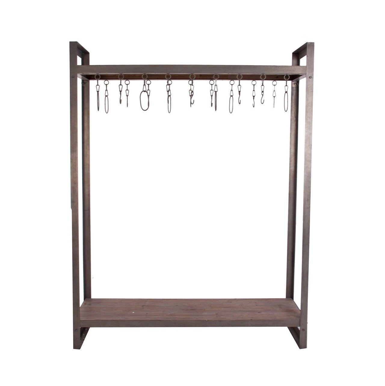 Perchero de metal y madera olhom metal y madera - Percheros de metal ...