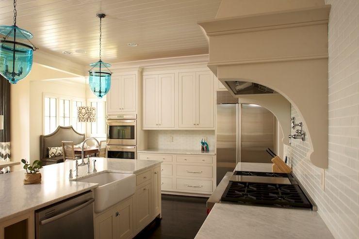 Twin Companies Kitchens Beadboard Ceiling Mini Glass Subway