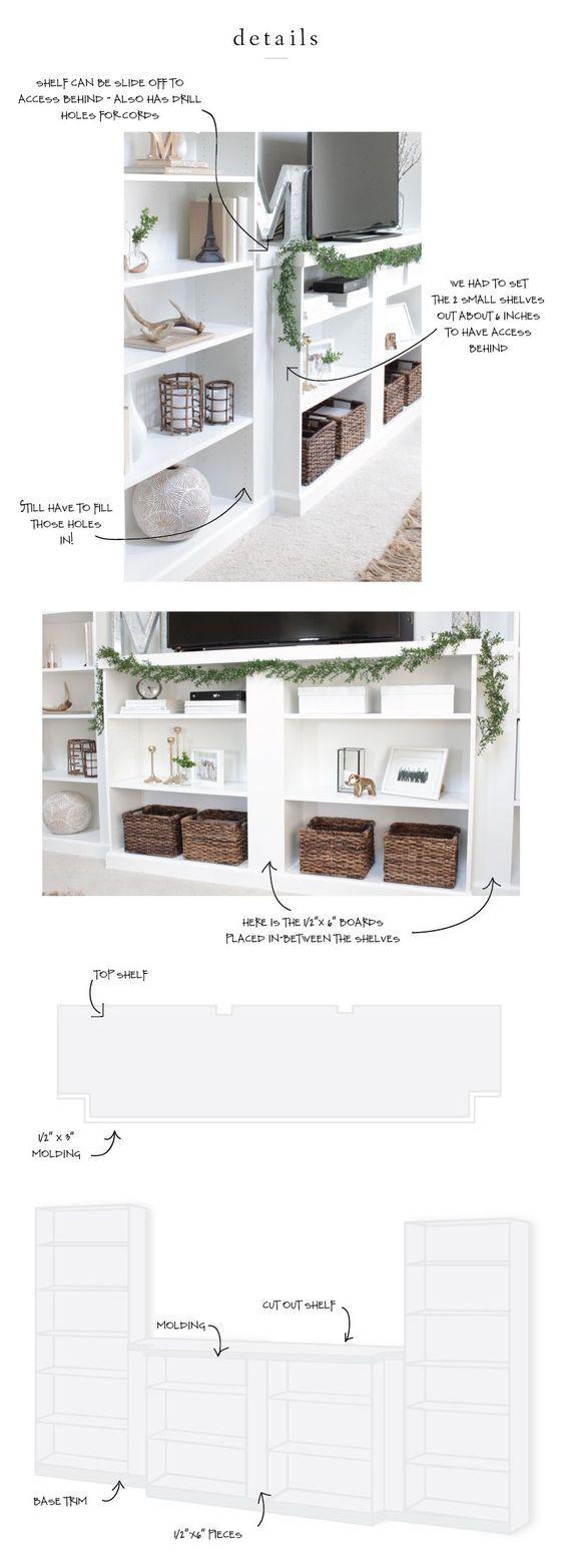 our ikea hack diy built in bookcase diy m bel wohnzimmer und m bel. Black Bedroom Furniture Sets. Home Design Ideas