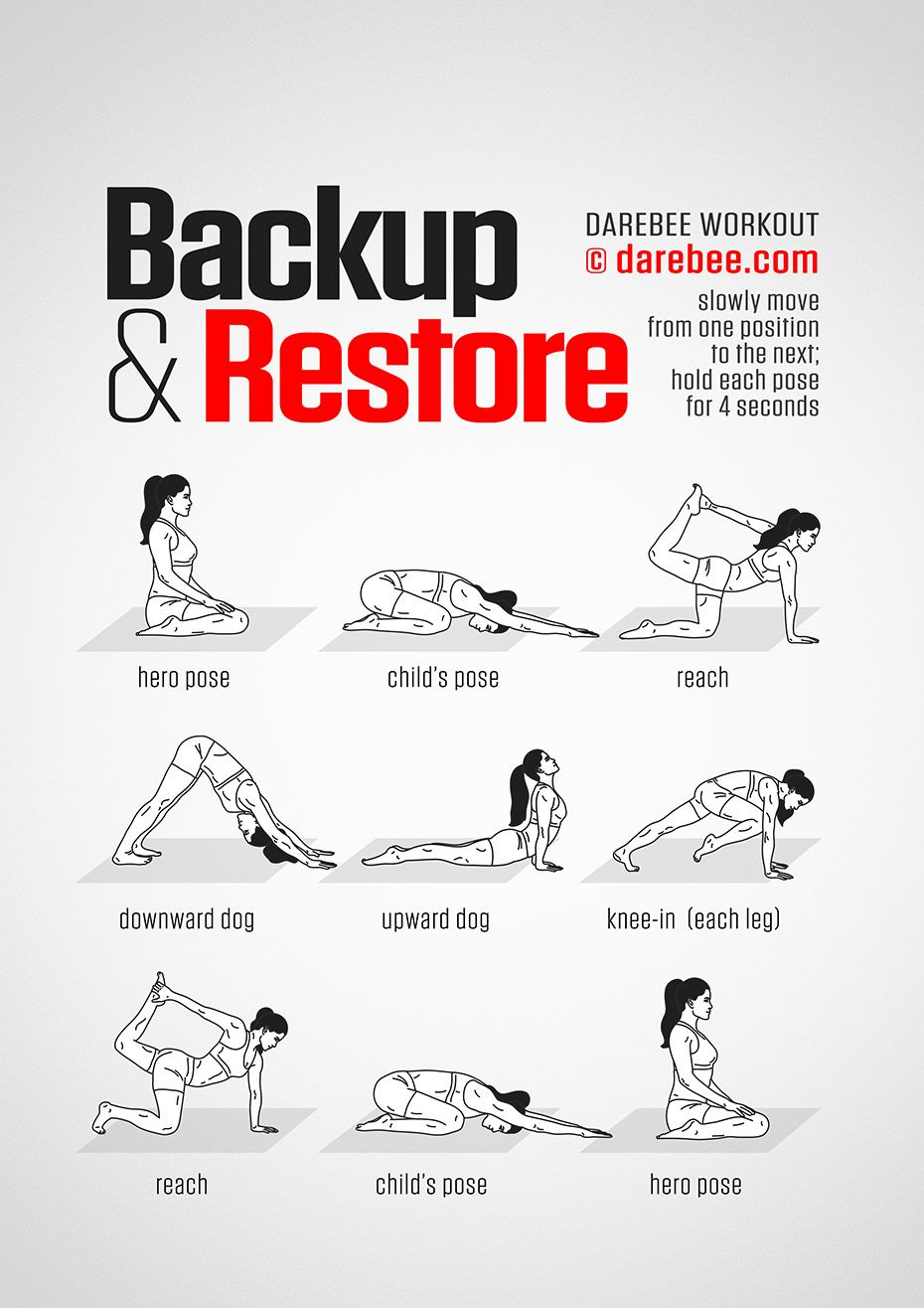 Backup & Restore Workout - Concentration - Full Body - Difficulty 2 Suitable for beginners