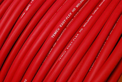 Temco Wc0168 50 Ft 6 Gauge Awg Welding Lead Car Battery Cable Copper Wire Red Made In Usa Check Out The Image By Visiting The Link Car Tool Kit Weldi