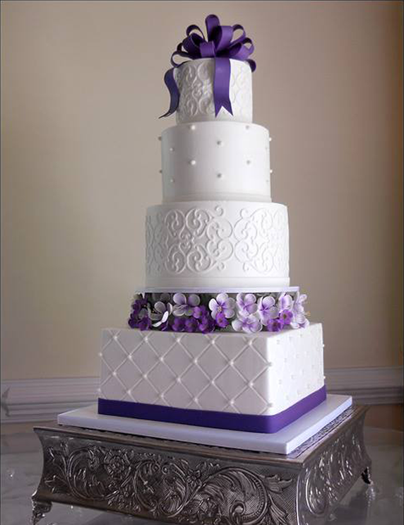 Wedding Cake- like the different design/ techniques on this cake