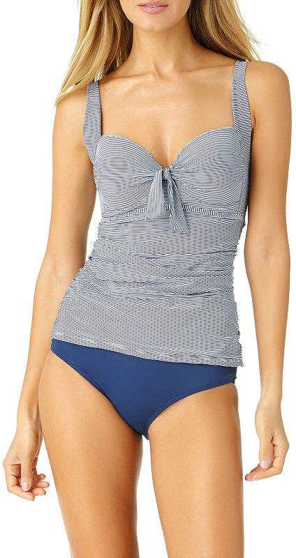3fdc9873a3 Liz Claiborne Stripe Tankini Swimsuit Top