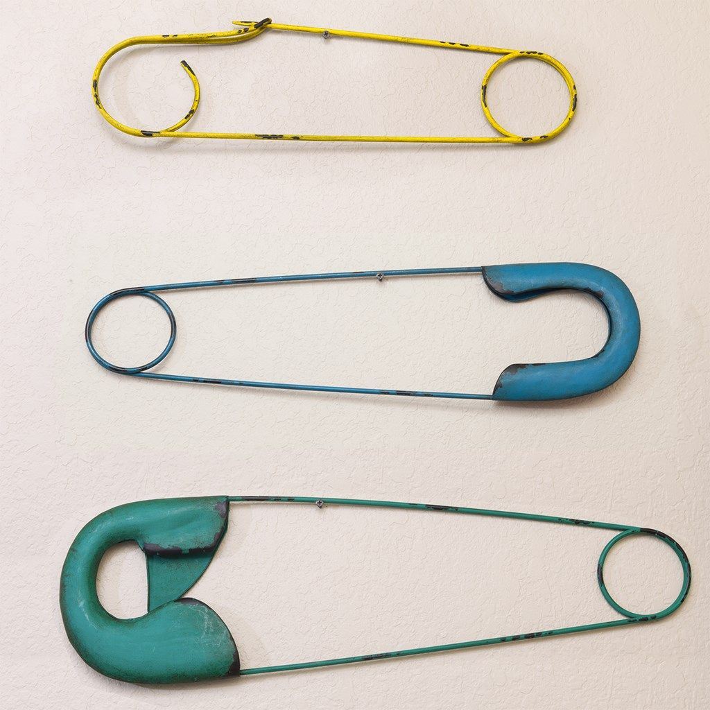 Safety Pin Wall Decor - Large | Collections | Laundry Room ...