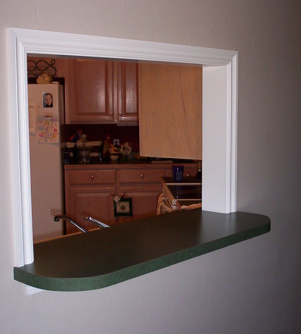Pass Through Window With Bar Construction Kitchen