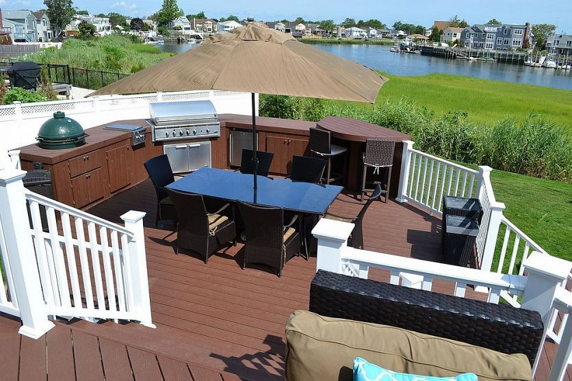 The Deck And Patio Company Replaces Pool Deck After Hurricane Sandy Patio Backyard Decor Composite Decking