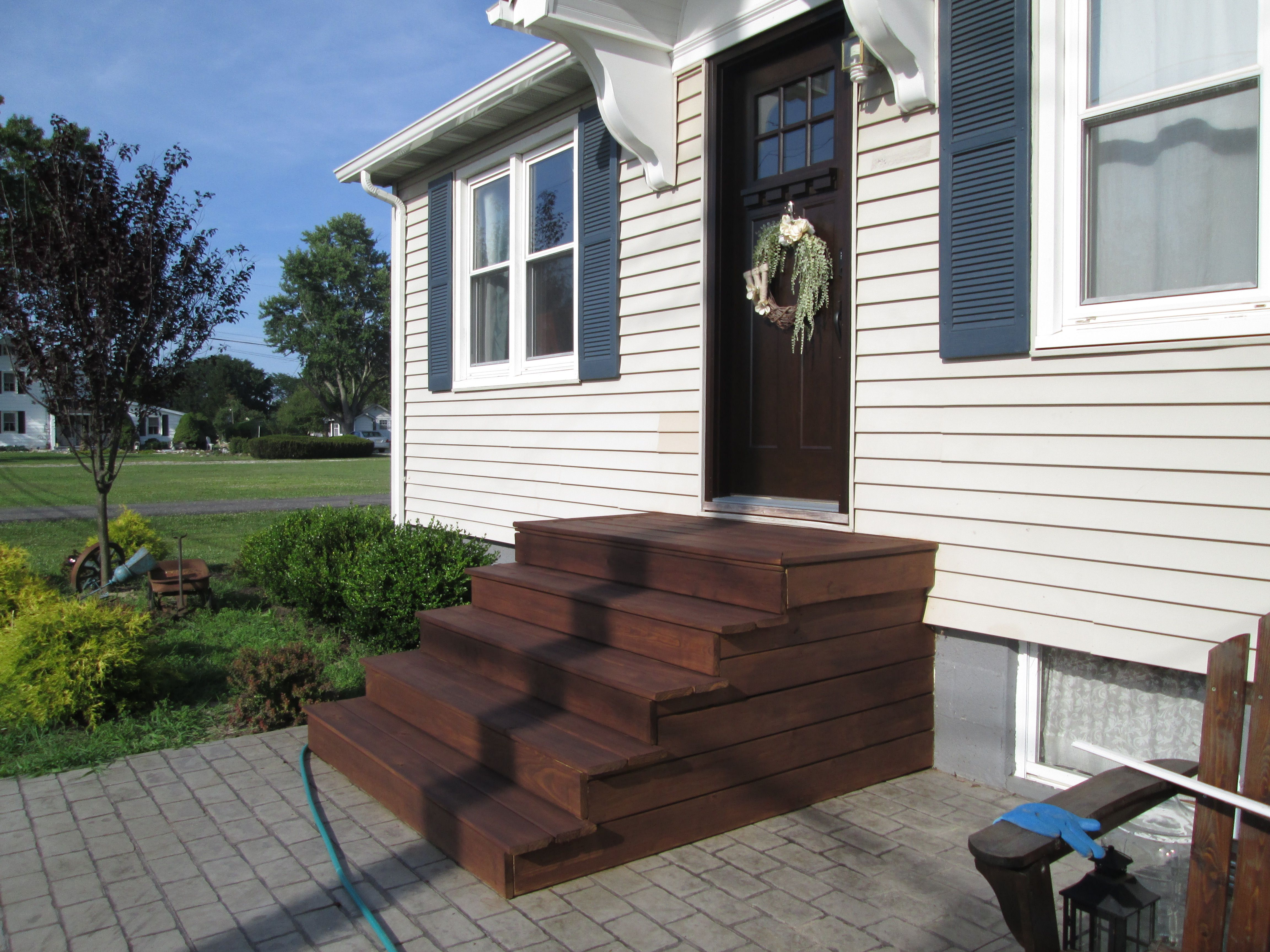 Another Beautiful Deck Restoration With Rebuilt Steps Deck Restoration Wood Deck Staining Wood